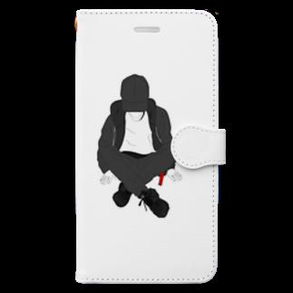 M.U.D createのいけめん2 Book-style smartphone case