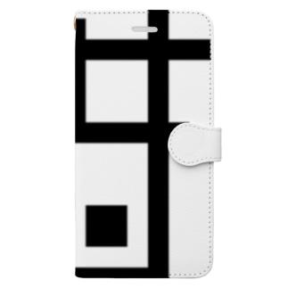 四角 せみ Book-style smartphone case