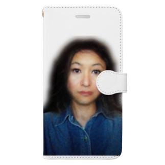謎の美女 Book-style smartphone case