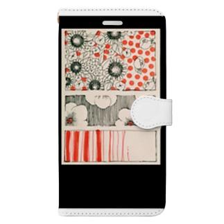 レトロフラワー Book-style smartphone case