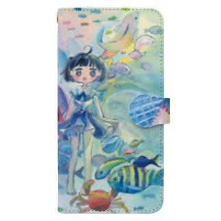お魚ワンピース Book-style smartphone case