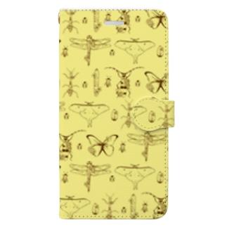 昆虫柄 Book-style smartphone case