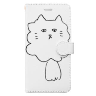 もじゃねこくん Book-style smartphone case