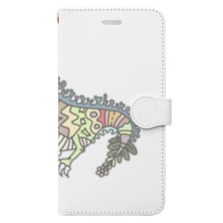 トカゲん。(カラーver.) Book-style smartphone case