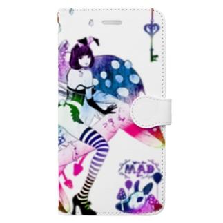 MAD ALICE 電池式キノコの国のアリス バニー型 Book-style smartphone case