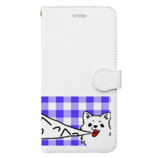 めっちゃいきのあらいいぬ Book-style smartphone case