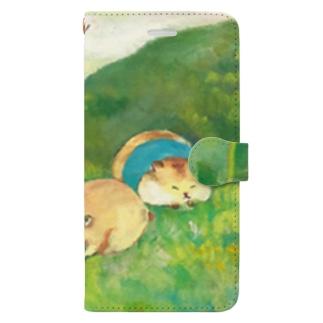 春のおしらせ Book-style smartphone case