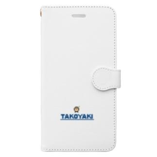 たべっこピクセルNo.003 たこやき Book-style smartphone case