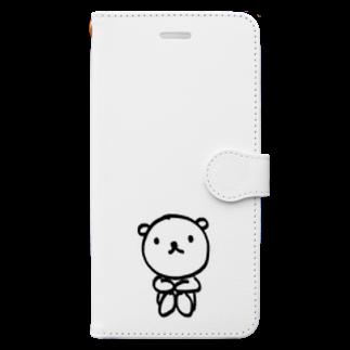 yimikkyのクマハルくん Book-style smartphone case