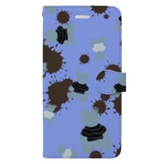 blueberry choco kuma Book-style smartphone case