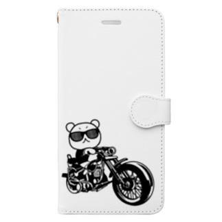 くまバイク Book-style smartphone case