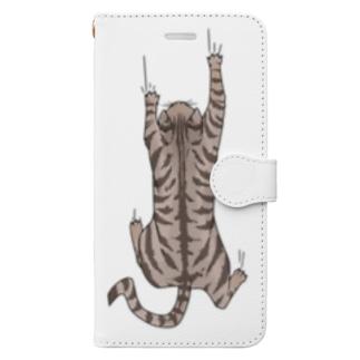 飛び付き猫 Book-style smartphone case