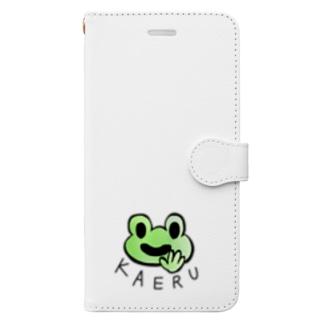 アシタモのほがらかカエル Book-Style Smartphone Case