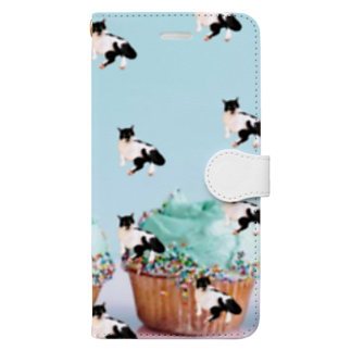 保護猫活動家すみパンさん家への支援グッズ!のNo.15 バットにゃんパターン♪ Book-style smartphone case