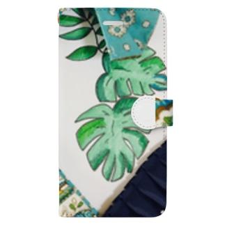 ボタニカルアーティ💗ラモンド Book-style smartphone case
