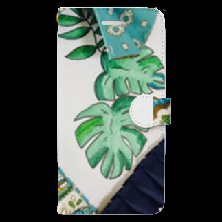 お台場ローズベイデザインのボタニカルアーティ💗ラモンド Book-style smartphone case