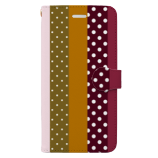 orange_honeyのストライプと水玉 Book-style smartphone case