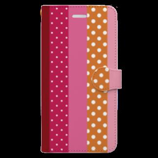 orange_honeyのストライプと水玉 4 Book-style smartphone case