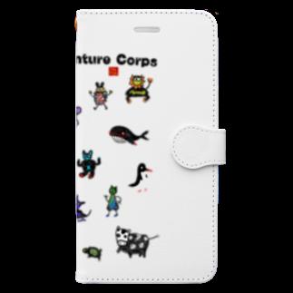 nachau7のなんだか冒険隊 Book-style smartphone case