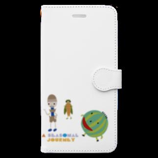 nachau7のアメリアさんの季節の旅 Book-style smartphone case