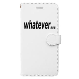 whatever... どうでもいい… Book-style smartphone case