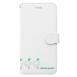 だいこんじじぃ歩く Book-style smartphone case