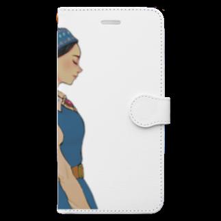 うまみの民族風 Book-style smartphone case