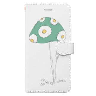 わる、きのこ。 Book-style smartphone case