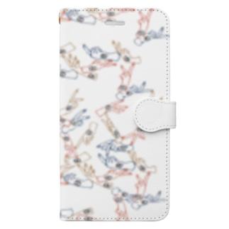 カラフルはんどくん Book-style smartphone case
