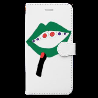 みあしろ。のくち、めだま。 Book-style smartphone case
