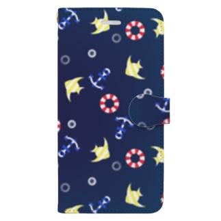 海の柄 Book-style smartphone case