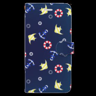 つちのこの海の柄 Book-style smartphone case