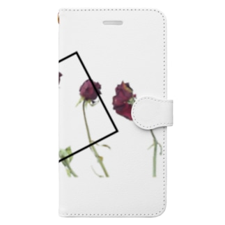 『枯れていく薔薇』iPhone case Book-style smartphone case