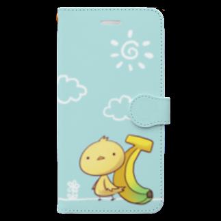 ロキのきいろいとりとばなな Book-style smartphone case
