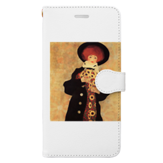 Art Baseのエゴン・シーレ / 1909 / Woman with Black Hat / Egon Schiele Book-style smartphone case