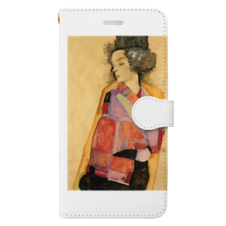 Art Baseのエゴン・シーレ / 1911 / The Daydreamer (Gerti Schiele) / Egon Schiele Book-style smartphone case