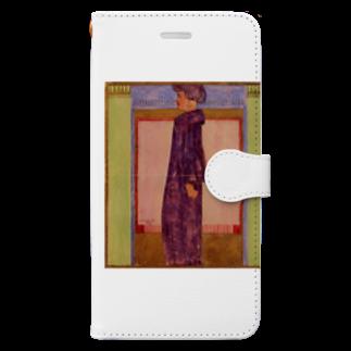 Art Baseのエゴン・シーレ / 1908 /Standing Woman / Egon Schiel Book-style smartphone case