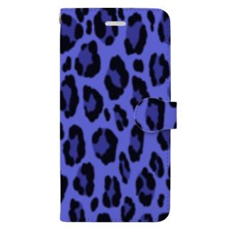 ヒョウ柄(ブルー) Book-style smartphone case