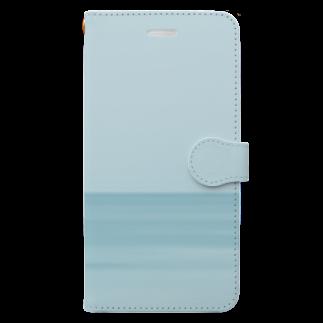 フォトモアの真夜中の海 Book-style smartphone case