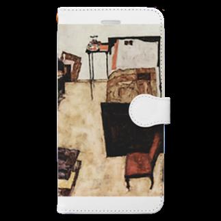 Art Baseのエゴン・シーレ / 1911 /Schiele's Room in Neulengbach / Egon Schiele Book-style smartphone case