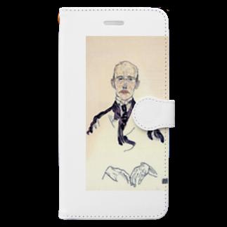 Art Baseのエゴン・シーレ / 1917 / Portrait of Karl Maylander / Egon Schiele Book-style smartphone case