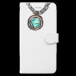 魚風商店の涼やかネックレス Book-style smartphone case