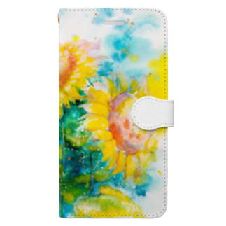 AWESOME CLOUDのhimawari Book-style smartphone case