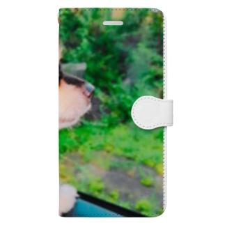 凛としたイヌ Book-style smartphone case