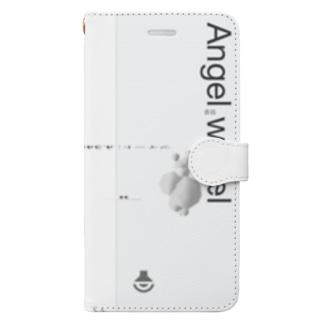 「ごめん々ね 」と言っの背中の羽は銀色と透明な色をしたビニール袋(副産物) Book-style smartphone case