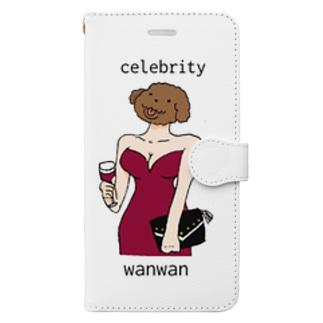 セレブリティワンワン Book-style smartphone case