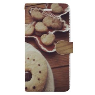 焼き菓子パーティー Book-style smartphone case