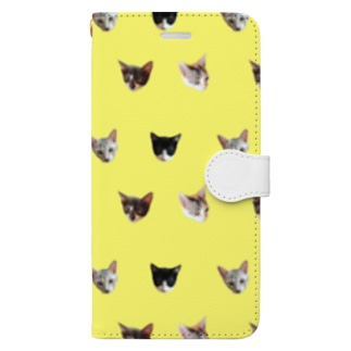 No.8 フルーツ4兄弟 ドット♪ Book-style smartphone case