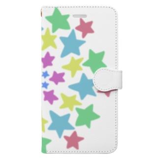 たくさんの星に囲まれて Book-style smartphone case