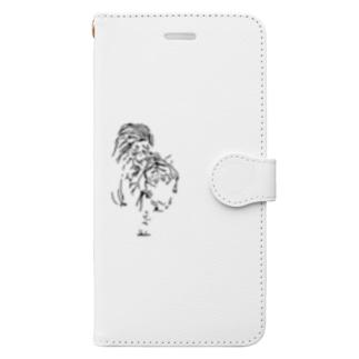 漆黒の虎 ※黒不可 Book-style smartphone case